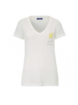 conleys, tricou alb cu lamaie, mar S