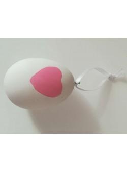 oua cu inimioara roz , 6 buc