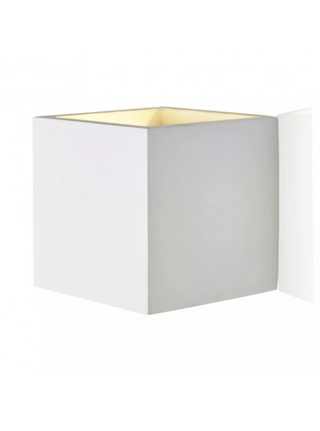 Aplica electrica de perete cub alb