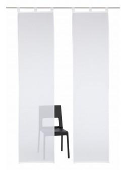perdea alba 2 buc , my home , L 57 / H 145 cm