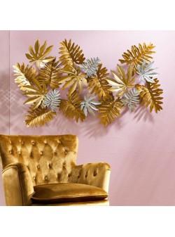 obiect decorativ de perete , metalic , auriu , florența