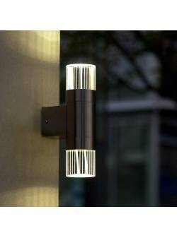 aplica exterior cu led, eco light, inox-cristal,