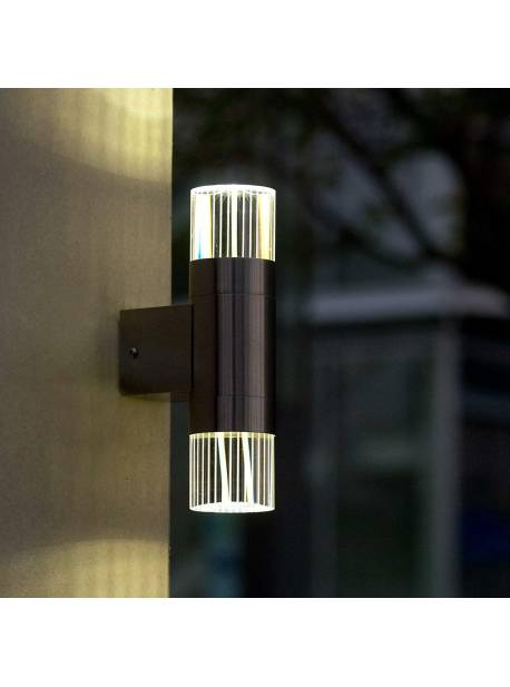 aplica exterior , cu led ,eco light , inox-cristal,
