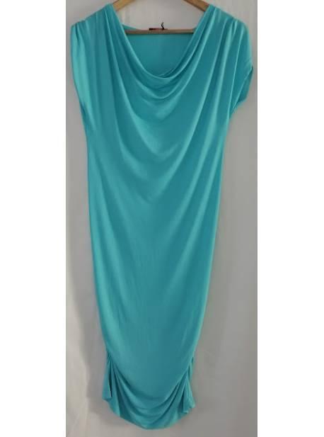 rochie vara,turcoaz,incretituri laterale,conleys