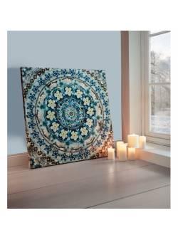 tablou cu mandala, albastra
