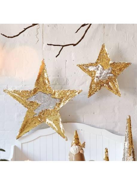 stele cu paiete reversibile aurii-argintii, H 40 si 60cm