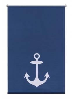 roleta albastra cu ancora, L45-H150cm, my home