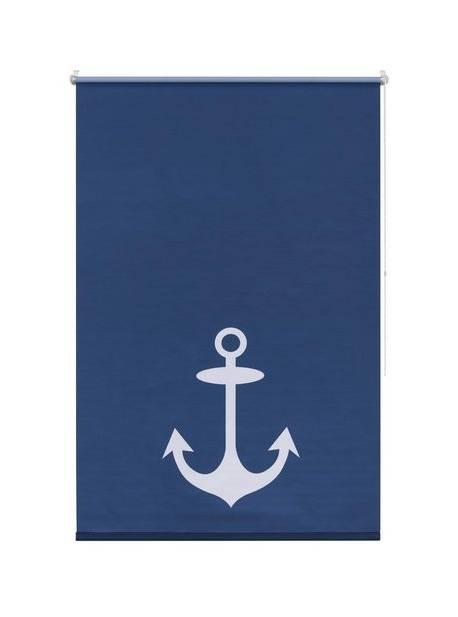 roleta albastra cu ancora, L45xH150cm, my home