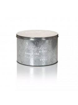 cutie pentru prajituri, din metal zincat, 11x22cm