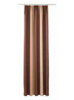 draperie cu degradeuri maro L 140 x H 245 cm, my home