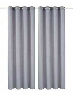 my home, draperie gri argintiu, 2 buc, 140 x H 145 cm