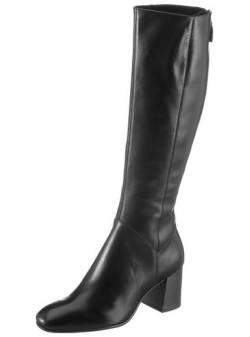 Tamaris, cizme piele neagra, mar 36