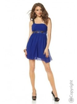 LAURA SCOTT, rochie, eleganta, albastra
