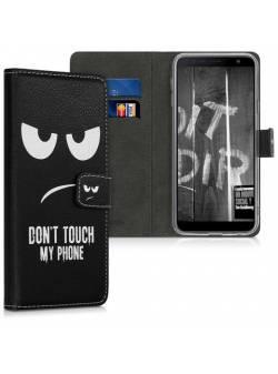 husa Samsung Galaxy J4 + / J4 Plus DUOS - carcasă portofel din piele sintetică cu sloturi pentru carduri