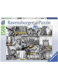 ravensburger, Puzzle 1500 piese, Dabs of Color in New York