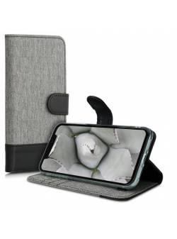 husa Apple iPhone 11- carcasă portofel din piele cu sloturi pentru carduri