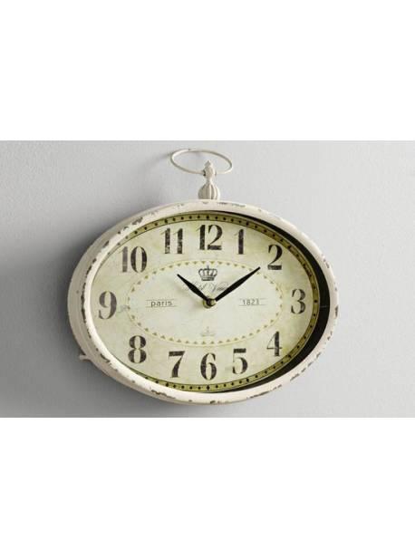 ceas oval metalic, stil vintage