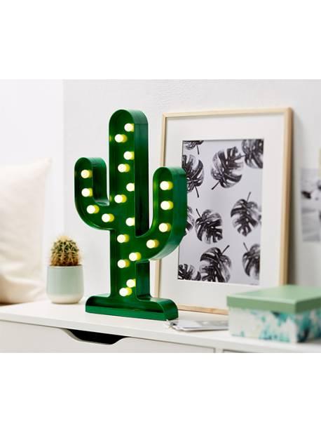 cactus cu becuri LED, H 31cm