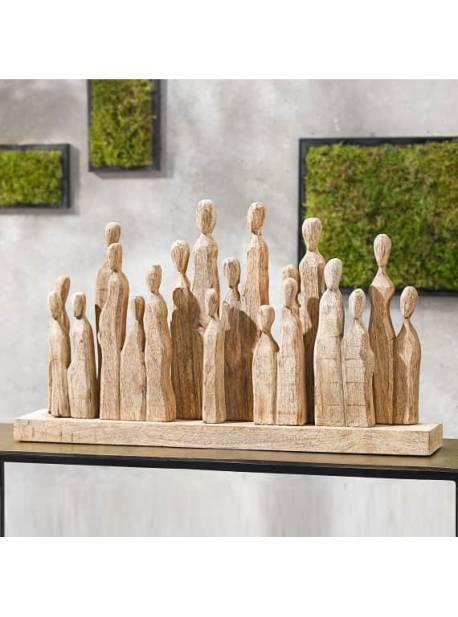 sculptura din lemn de mango, 61 x 35 cm