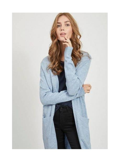 vila, cardigan lung VIRIL, cardigan bleu