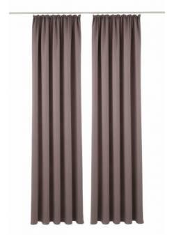 draperii bej inchis, 2 buc., 140 x H 175 cm