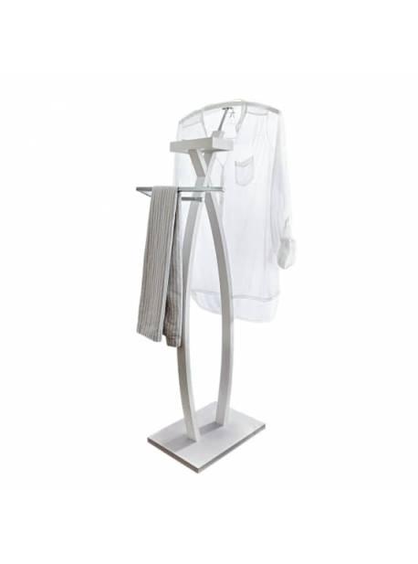 valet alb Alfred, suport pentru haine, H 116 cm