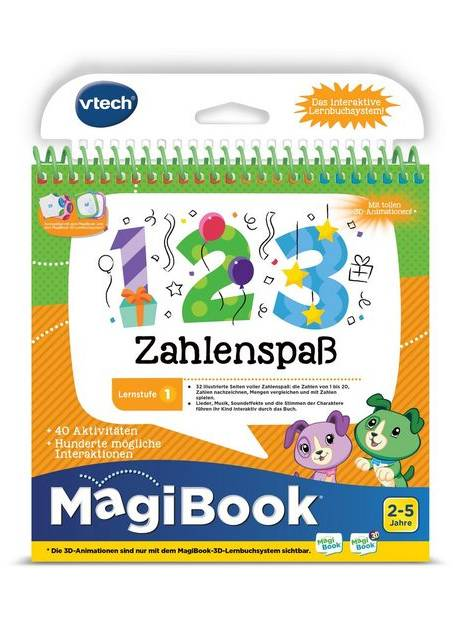 Vtech, Carte educativa distractie cu numere, in limba germana