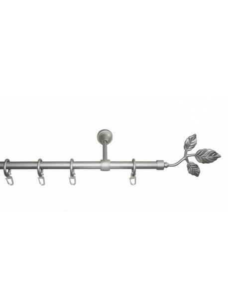 INDECO, tija perdea, galerie metal cromat, 1,2m