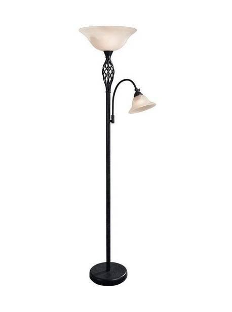 lampa de podea rustica cu brat de citit, H 178 cm