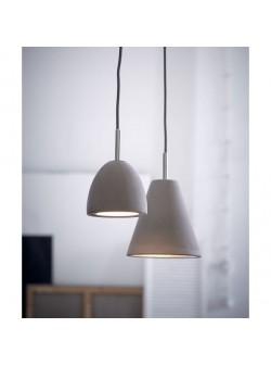 lampa electrica cu abajur conic din beton