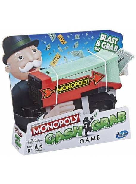 Joc de societate HASBRO Monopoly Cash Grab E3037, 8 ani+