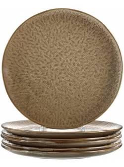 LEONARDO, farfurie ceramică bej MATERA 27 cm, 6 buc