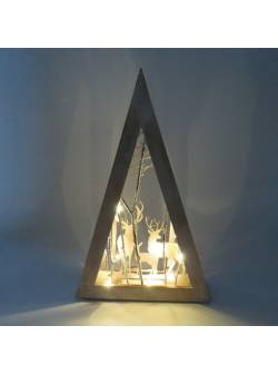 decoratiune traforata cu LEDuri, craciun