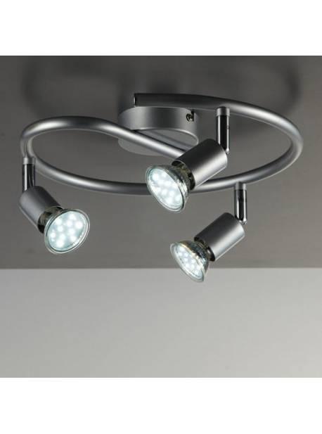 BKLicht, plafoniera cu 3 spoturi LED pivotante, 3x3 wați, 250 lumeni