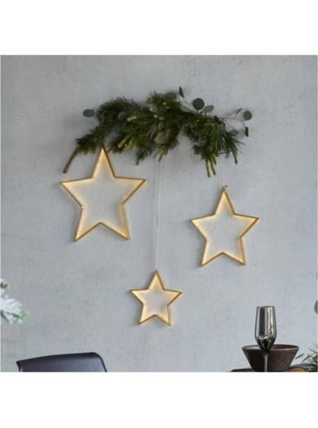 stele metalice cu leduri, set 3 buc