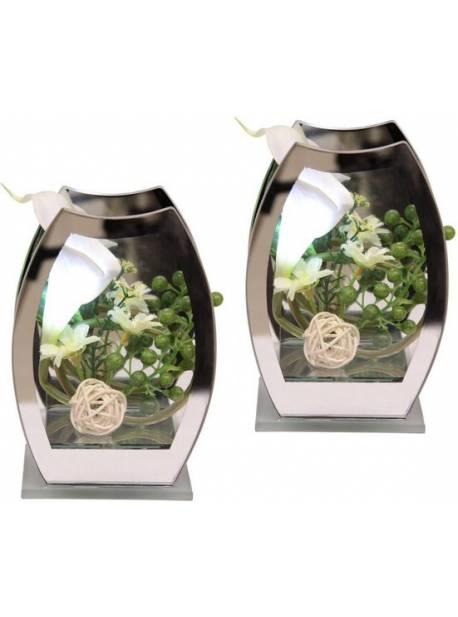 Planta artificiala aranjament LED-Calla, DELAVITA, H 15 cm, 2 buc