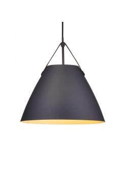 lampa electrica scandinava cu abajur metalic negru, lampa Nordlux