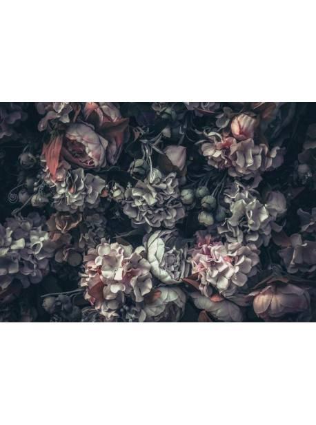 consalnet, fototapet nețesut Mix albastru de flori, tapet floral, 153x104 cm