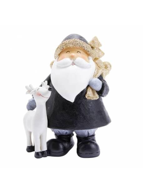 Figura decorativă Moș Crăciun cu Ren