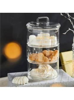 Borcan de biscuiți din sticlă Deli, H 18 cm
