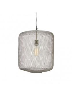 lampa electrica, cu abajur din plasa de sarma