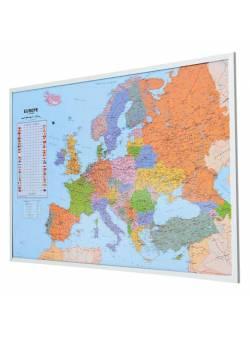 Harta europei pe tabla de pluta 90x 60 cm