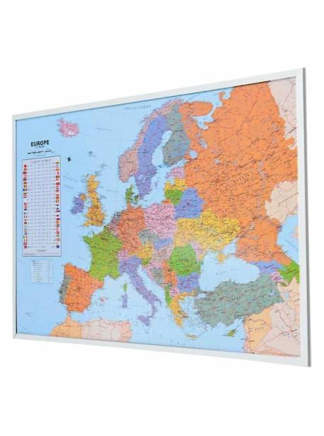 Harta lumii pe tabla de pluta 90x 60 cm