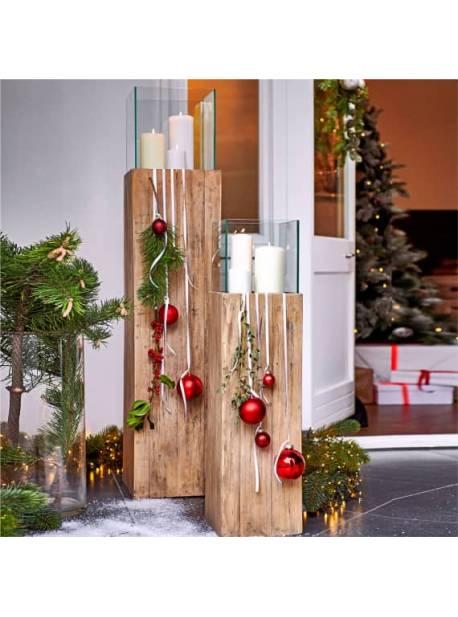 felinar din lemn reciclat, H 80cm