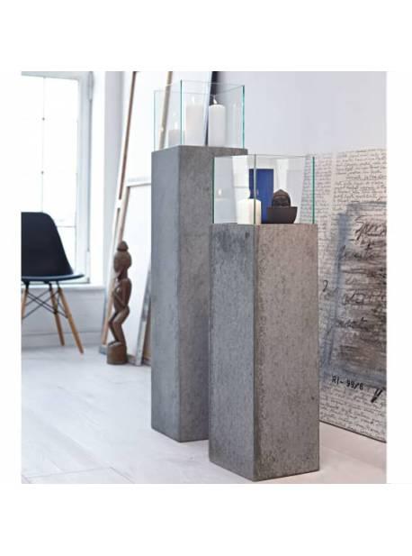 felinar gri din beton, H 80 cm