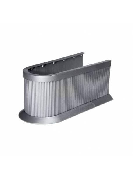 Capac sifon chiuveta argintiu, H 11 cm