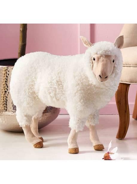 Oaia Hanni, cu lana adevarata, lemn, L 52 x H47 cm