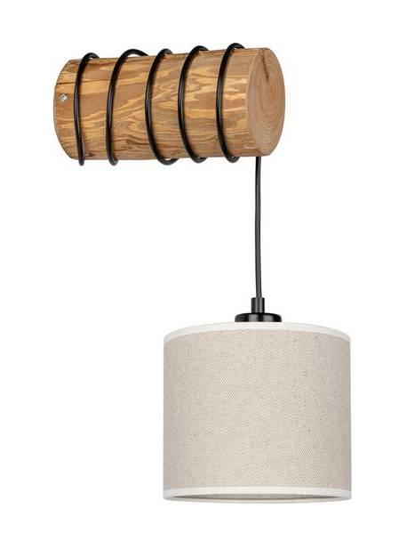 Lampă de perete Emmo, suport din pin masiv