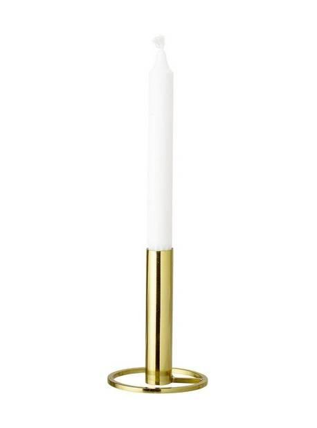 Suport lumanare auriu Bloomingville, înălțime 13 cm