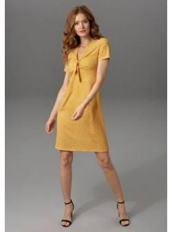 Aniston CASUAL, rochie de vară cu cravată pentru decolteu, mar 40 si 42
